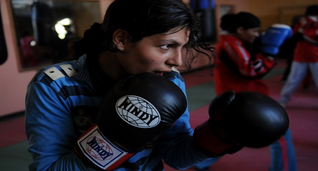 Boxing girls of Kabul
